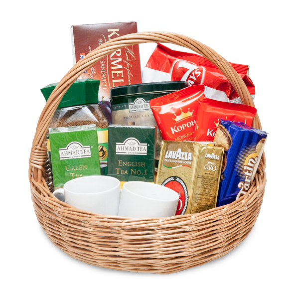 Basket with coffee